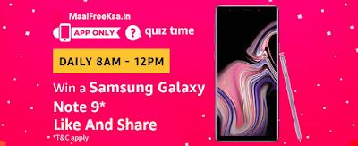 Samsung Galaxy Note 9 Quiz Time