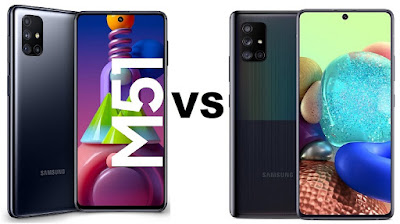مقارنة بين هاتف سامسونج Galaxy M51 و Galaxy A71 5G مقارنة بين Samsung Galaxy A71 5G و Samsung Galaxy M51