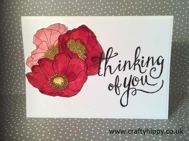 Inside the Lines, Red Poppy Card, Stampin' Up!