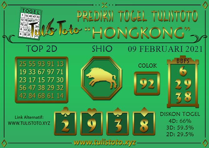 Prediksi Togel HONGKONG TULISTOTO 09 FEBRUARI 2021