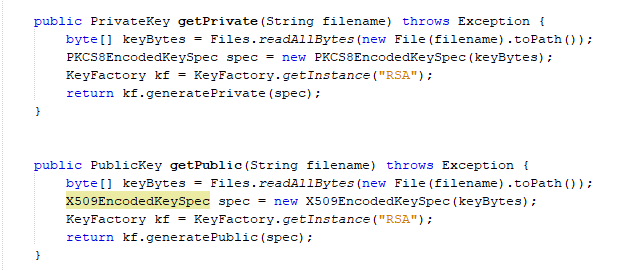 rsa public key encryption example java