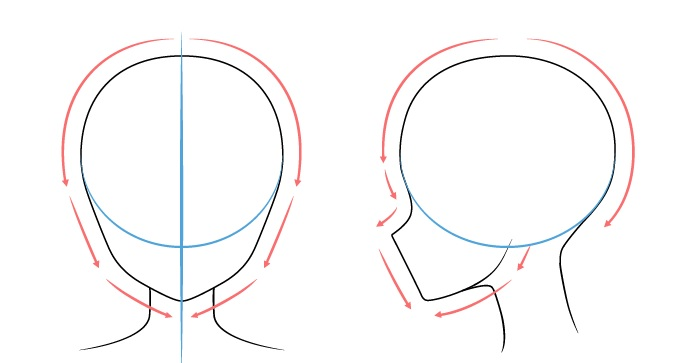 menggambar bagian kepala cewek anime