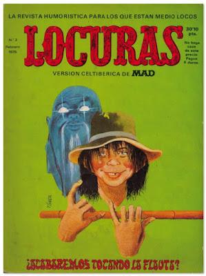 """MAD la revista en España """"Locuras"""" comic humor gráfico"""