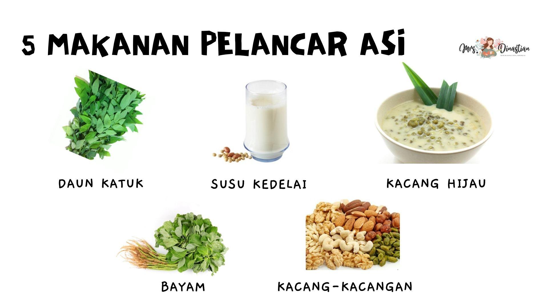 5 Makanan Pelancar ASI