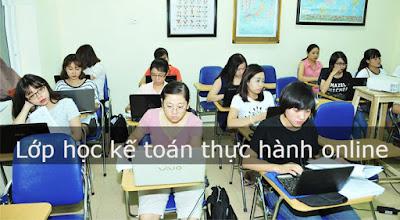 Lớp học kế toán thực hành online