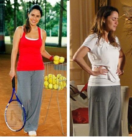 Ana roupas tenista em a vida da gente