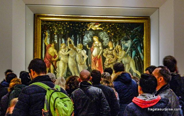 Botticelli na Galleria degli Uffizi, Florença, Itália