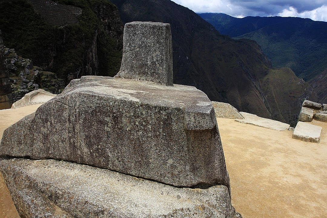 Machu Picchu. Peru. Intihuatana.