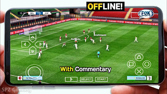 PES 2021 PPSSPP Camera PS5 Android Offline 600MB Best Graphics New Menu Real Faces & Full Transfers
