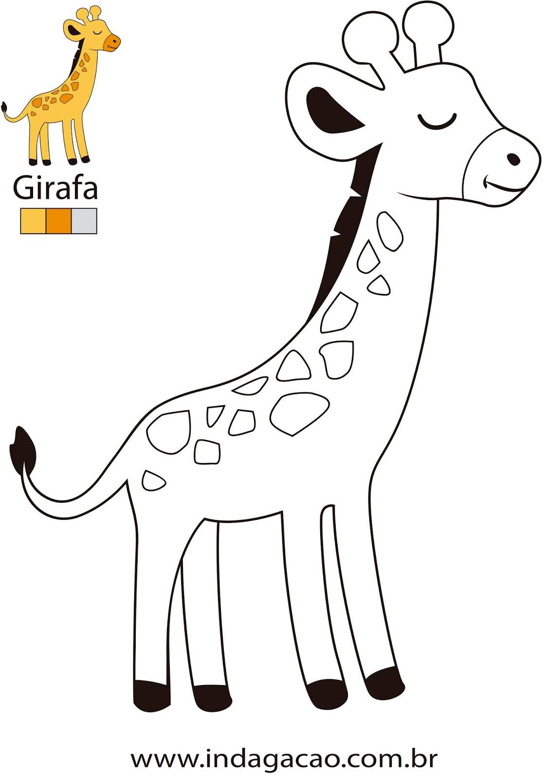 desenho-para-colorir-girafa