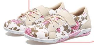Sepatu Anak Perempuan  Bertali Motif Bunga BMA 882