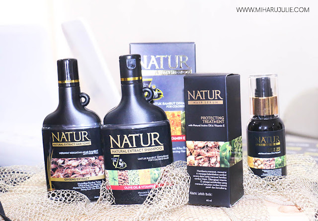 Review Natur Hair Care Series - Natur Shampoo, Conditioner