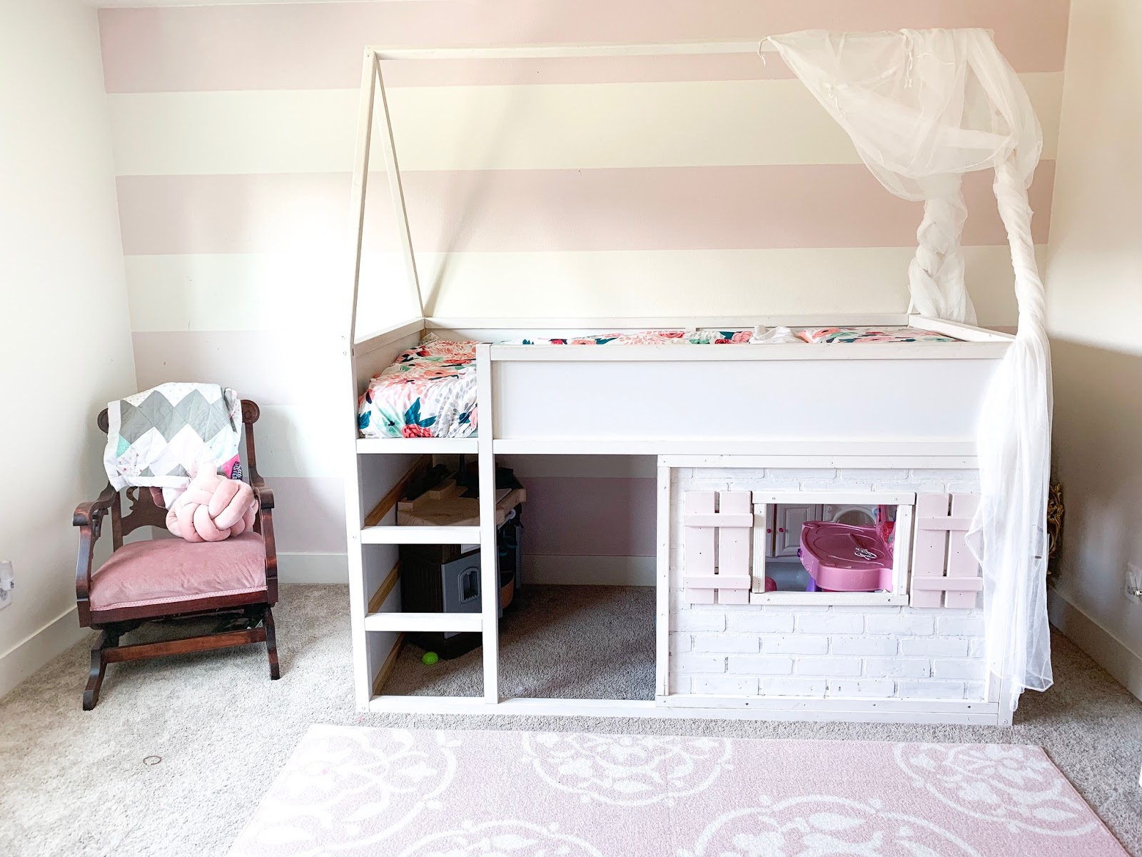 Diy Cottage House Bed Kura Hack Behind The