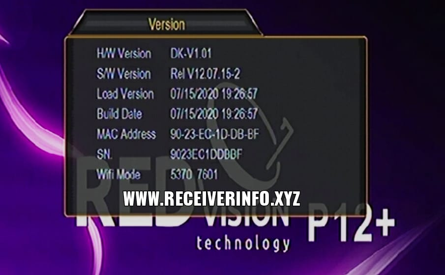 REDVISION P12 HD RECEIVER | 1507G NEW SOFTWARE 2020 | SUNPLUS RECEIVER SOFTWARE UPDATE