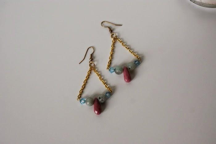 earrings rhodonite crystals bohemian jewelry