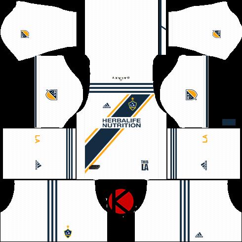 detailed look 91ea3 15b4f LA Galaxy Kits 2018 - Dream League Soccer Kits - Kuchalana
