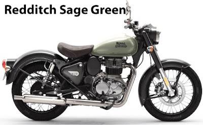 Royal Enfield Classic 350 Redditch Sage Green.