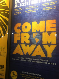 Come From Away Shubert Alley Poster Broadway Musical
