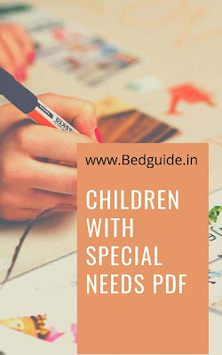 Children With Special Needs Notes PDF