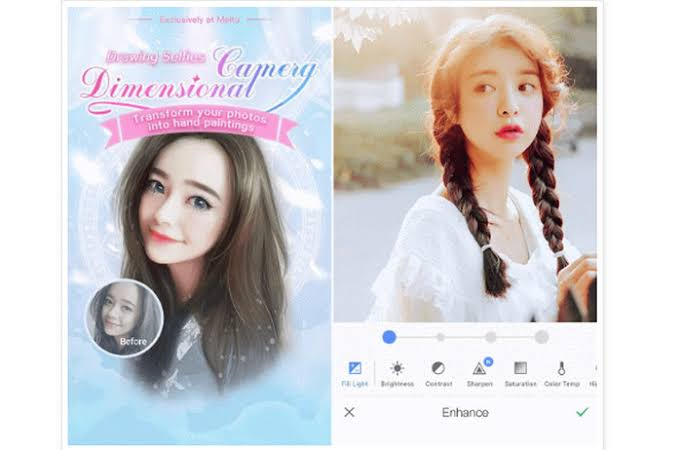 aplikasi edit foto iphone meitu