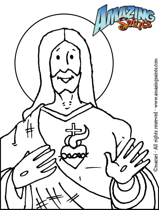 sacred heart coloring pages - photo#15
