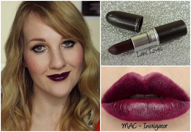 MAC Instigator lipstick swatch