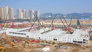 Wuhan hospital work almost complete