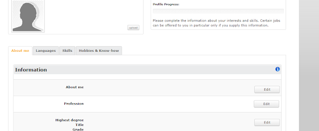 melengkapi profil clickworker