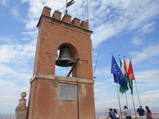 Bell tower and flags