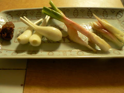 味噌3点盛り エシャレット 谷中生姜 ミョウガ