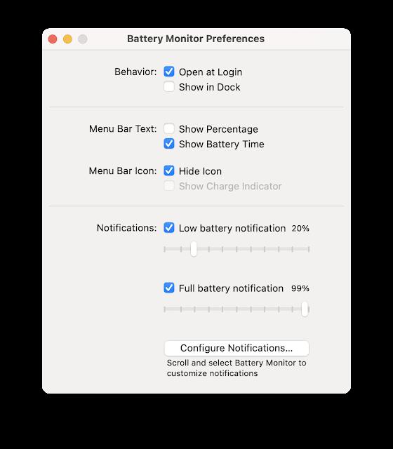 Menampilkan Notifikasi Baterai di Macbook