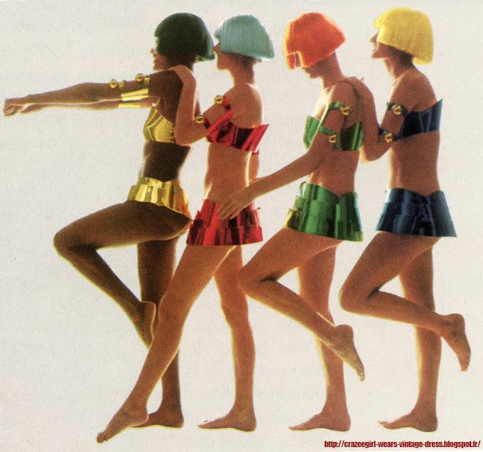 André Courrèges bikinis - 1969 60s 1960