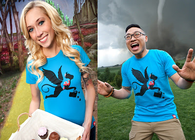 "Johnny Cupcakes The Wizard of Oz Inspired T-Shirt ""Bakers of Oz"""