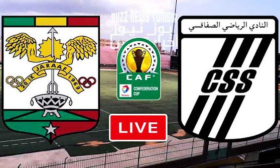 بث مباشر مباراة جاراف السنغالي و النادي الرياضي الصفاقسي في كأس الكونفيدرالية الإفريقية
