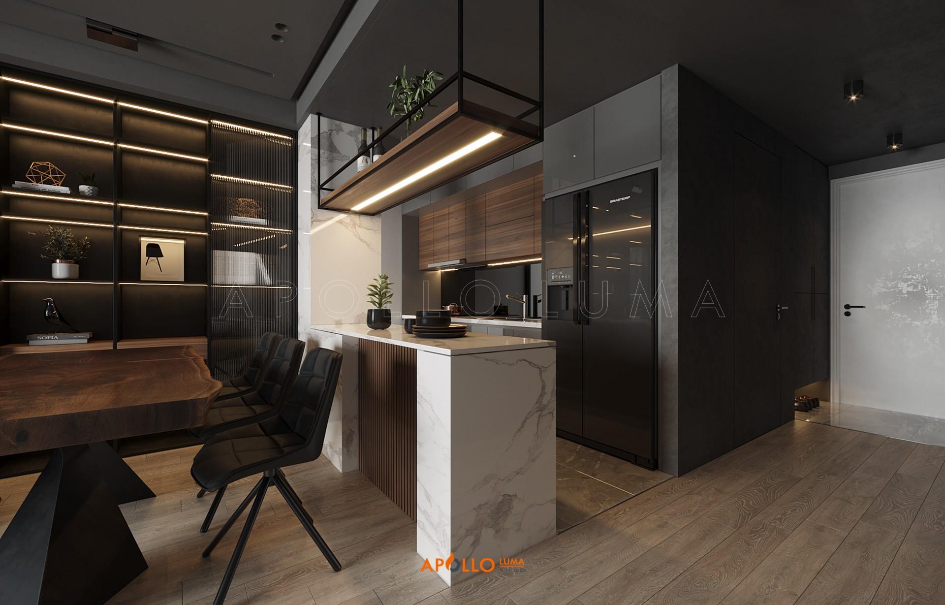 Thiết kế nội thất căn hộ 3PN (85m2) Le Grand Jardin BRG Sài Đồng