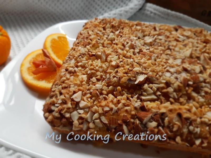 Сладкиш с портокалов крем и ядки * Torta al budino d'arancia e nocciole