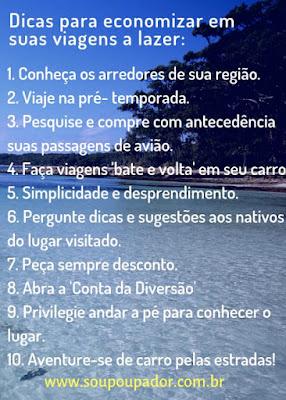 Conceitos do viajante Poupador: planejamento, disciplina e simplicidade - PDS.