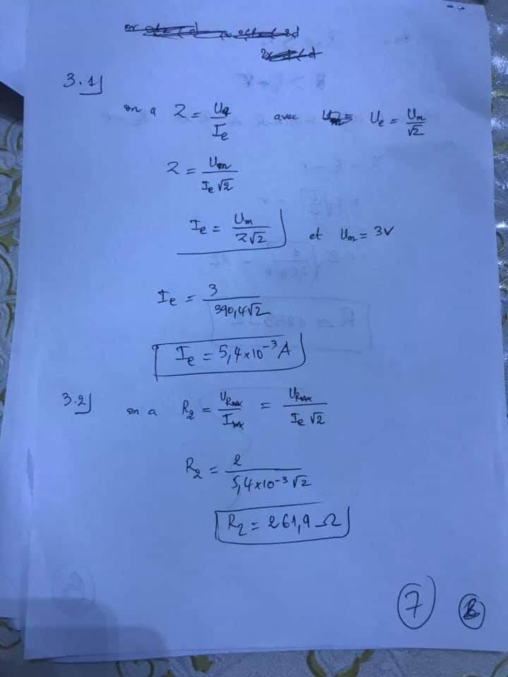 تصحيح الامتحان الوطني مادة الفيزياء 2020 علوم رياضية