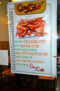 Crazy Crab Cebu promo