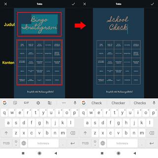 Cara Membuat Instagram Story BINGO Template di Android