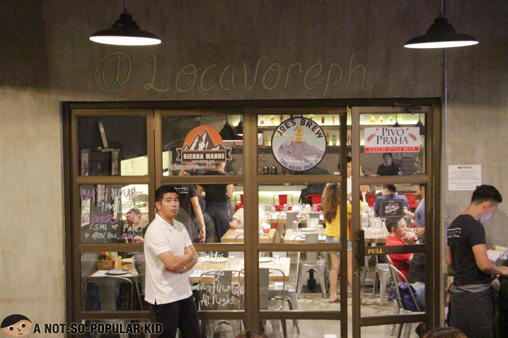 Locavore - entrance to the indoor dining area #LocavorePH