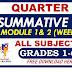 Q4 First Summative Test GRADE 1-6 w/ Answer Keys