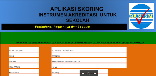 Unduh aplikasi Penskoran Akreditasi Sekoah SMP SMA