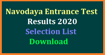 Navodaya Entrance Exam conducted on 11.01.2020 all over the India Results and Selection list Download at the official website www.navodaya.gov.in. Students who have attempted the JNVST 2020 have to check their results to get Admission into 6th class for the academic year 2020-21 in Navodaya Schools. Here is the way to check the Navodaya 6th class Entrance Exam Results