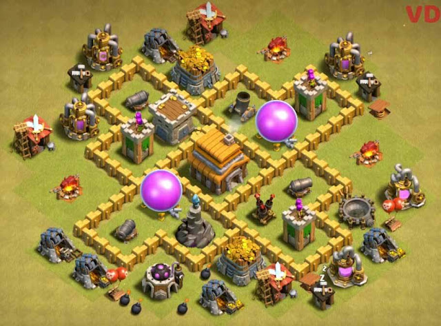 Base COC TH5 War 3