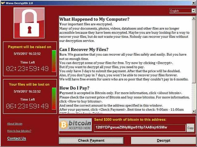 99 negara terkena serangan Ransomware WannaCRY 2
