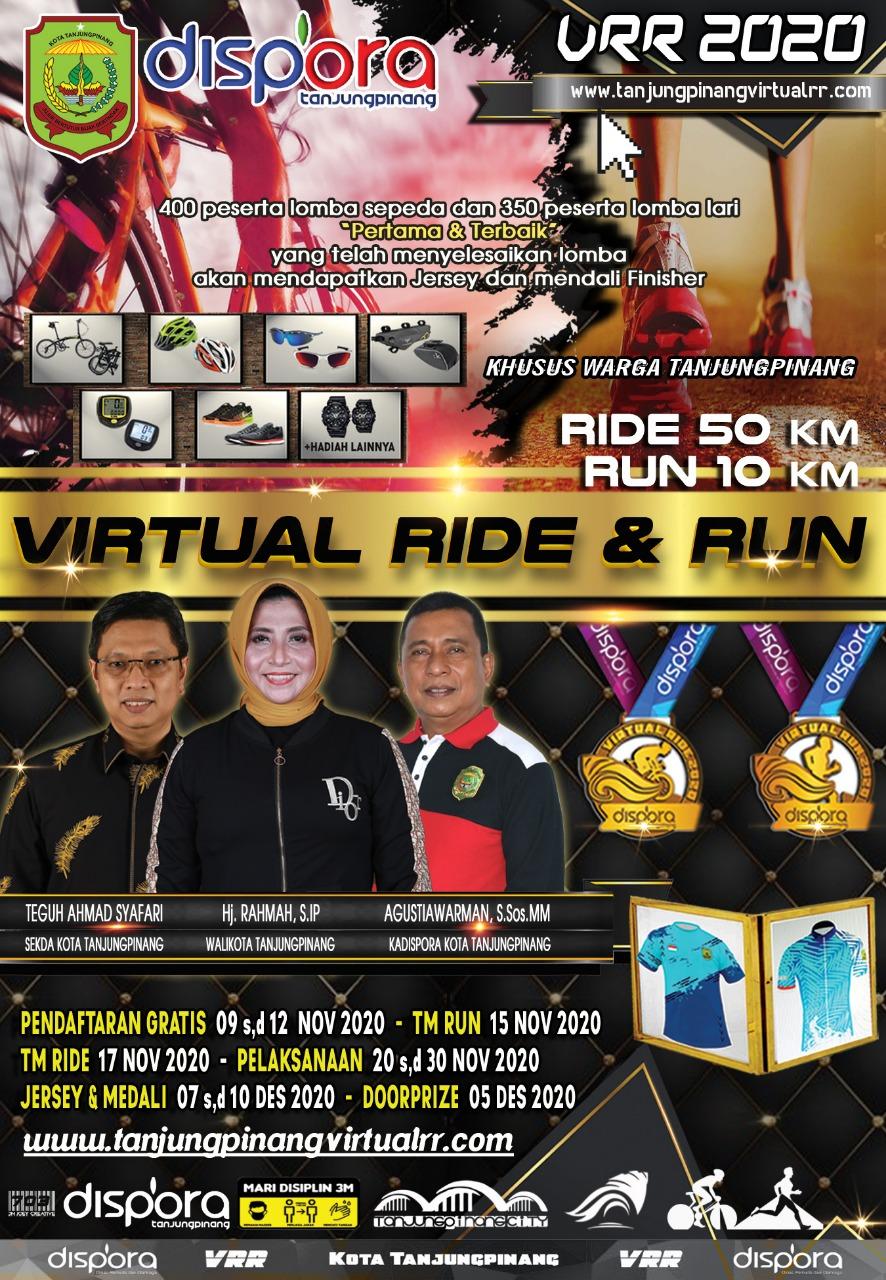 Dispora Membuka Pendaftaran Virtual Ride and Run 2020 Tanjungpinang