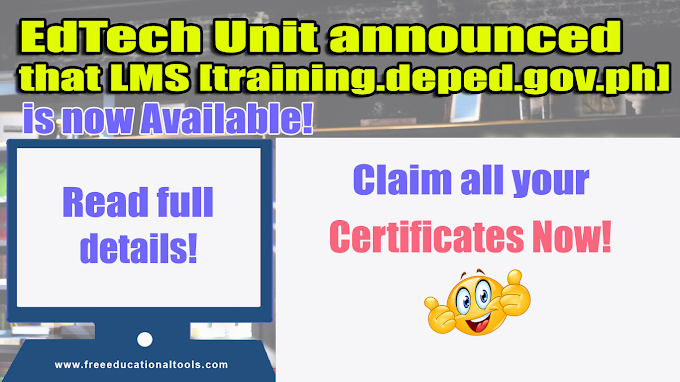 EdTech Unit: LMS is now available: Claim your Certificates Now!