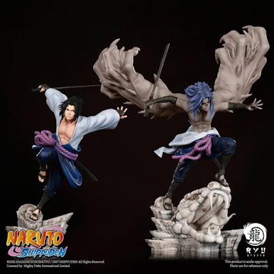"""estatua de Sasuke Uchiha de """"Naruto Shippuden"""" de Ryu Studio"""
