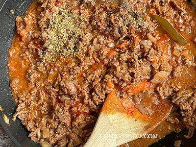 Meat sauce for pasitsio